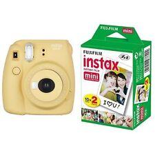New Model: Fujifilm INSTAX Mini 8 Plus Instant Camera Honey Colour + 20 Film Set