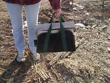 "FIRE WOOD LOG CARRIER TOTE --Large 15""x32""  w/Handles"
