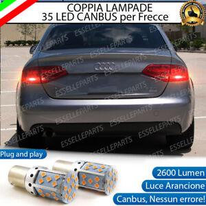 COPPIA LAMPADE PY21W BAU15S CANBUS 35 LED AUDI A4 B8 FRECCE POSTERIORI NO ERROR