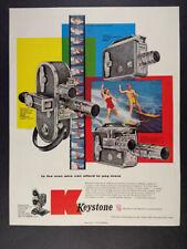 1955 Keystone A-15 K-51 K-56 16mm Movie Cameras vintage print Ad
