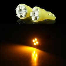 2 LUCI DI POSIZIONE LED GIALLO XENON T10 4 SMD lampadina auto 12V W5W car fari