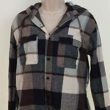 Ezekiel Men's Plaid Shirt,Long Sleeve, Hoodie, Flannel, Button Up, Front Pockets
