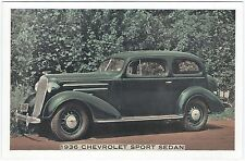 1936 Chevrolet 2-Door SPORT SEDAN Original DEALER SUPPLY-Style LUMITONE Unused ^