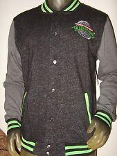 New Mens Med Teenage Mutant Ninja Turtles Nickelodeon Varsity Letterman Jacket M