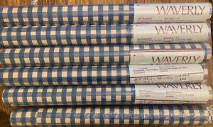 """Lot of 6 Waverly Pre Pasted Wallpaper 20.5"""" 56 sq ft each Read Description"""