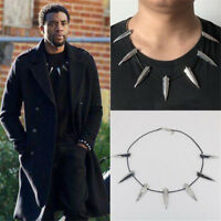 Black Panther Necklace Wakanda King T'Challa Necklace Cosplay Costume Jewelry