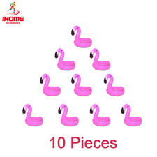 IHOME 10pcs Floating Flamingo Swimming Pool Drink Holders Floats Cup Coasters