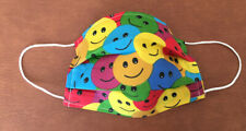 Smiley Faces😊 Adult 4 Layer face covering/mask - Reusable/washable Colourful 😃