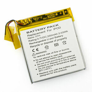 Battery for Apple iPod Nano 3rd Gen Generation 4GB MB253LL/A 616-0333 616-0337