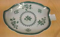 "Unique Spode Y2990 White & Green 7"" Leaf Candy Trinket Dish Design c.1813"