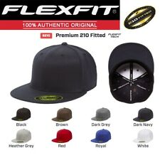 6210/T NEW Flexfit Premium Flatbill Fitted Baseball Cap 210 Flat Bill Hat