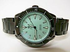 Traska Freediver Mint Dial Black Bracelet Dive Watch 40mm