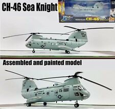US Boeing CH-46E Sea Knight helicopter HMM-163 1/72 diecast plane Easy model