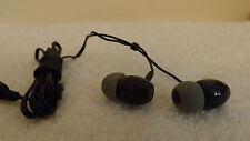 AVIS BLACK  IN EAR HEADPHONES BLACK WITH GREY Silicone EarBuds LONGER CORD
