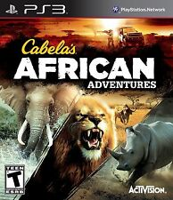PS3 Cabelas African Adventures MINT REsealed REGION FREE Lion Tiger Bear