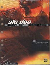 2003 SKI-DOO MX Z  BLAIR MORGAN SPECIAL PARTS MANUAL P/N 484 400 355  (852)
