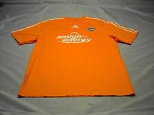Amigo  Energy  HOUSTON DYNAMO Orange / White pinstripes pull over shirt Sz Med