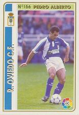 N°156 PEDRO ALBERTO # REAL OVIEDO OFFICIAL TRADING CARD MUDICROMO LIGA 1995