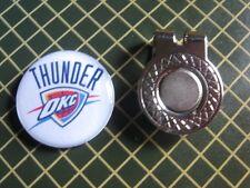 GOLF / Oklahoma City Thunder Logo Golf Ball Marker/with Magnet Hat Clip New!!