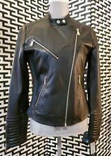 NWT Black Rivet quilted Leather Motorcycle Biker  moto jacket