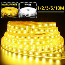 1M-25M 5050 Tape Lights rope IP67 Waterproof Strip SMD Flexible Ribbon LED 220V