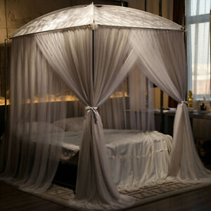 mosquito net bed curtain light shading dust-proof Iron paint bracket bed canopy