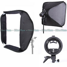 "PRO 24""/60cm Softbox+ S-Type Elinchrom Mount Bracket For Studio SpeedLight Flash"