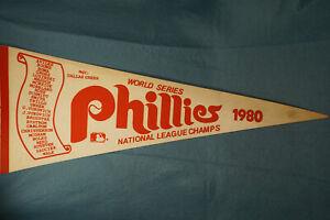 1980 Philadelphia Phillies World Series Champions MLB Baseball Scroll Pennant
