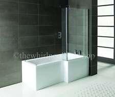 RH Oceania 12 Jet L Shape Whirlpool Jacuzzi Shower Bath Complete Screen & Panel