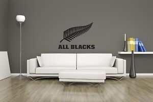 Huge New Zealand All Black Rugby Vinyl Sticker Wall Art / Man Cave