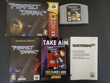Perfect Dark Original Release Rare Nintendo 64 N64 NRMT- condition COMPLETE n bo