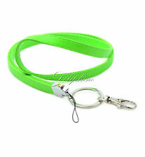 Multi Colors Leather PU Necklace Lanyard with Key chain for ID badge holder