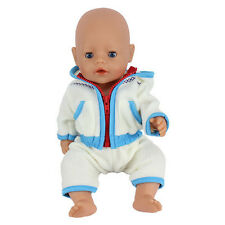 1set blue Doll Clothes Wearfor 43cm Baby Born zapf (only sell clothes )