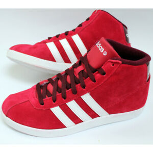 Adidas Vl Neo Court Mid Shoes Suede Sneaker Women's Children's Girl's Shoes Red