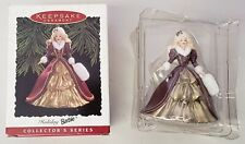 HAPPY HOLIDAYS 1996 SPECIAL EDITION BARBIE KEEPSAKE ORNAMENT 4TH IN A SERIES