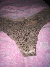 NWT Victorias Secret  Glitter String Thong Panty S New