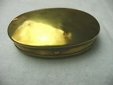 ANTIQUE EARLY 19th CENTURY BRASS POCKET SNUFF TOBACCO  BOX