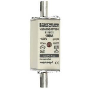 Mersen Blade Fuses 100A 500VAC NH000 gL/gG Combination Indicator