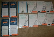 Boy Baby Shower Invitations Birth Announcements Keepsakes Stationary Cards Lot