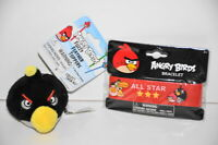 Angry Birds Fuzzy Feather Pencil Topper Bracelet All Star Rubber Wrist Band New