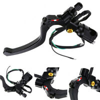 "Black CNC Aluminum Clutch Lever with Switch For 7/8"" 22mm Motorcycle Handlebar"