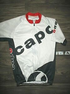 Capo White Cycling Racing Jersey LARGE