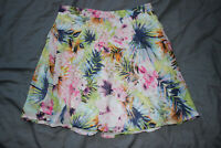 Missguided Women's Summer Floral Skirt Size 8 Good Used Condition
