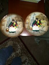 2 Vintage 1979 Royal Doulton The Old Balloon Seller Collector Plate Made England