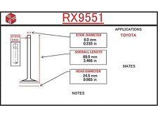 Exhaust Valve fits Chrysler - Dodge & Mitsubishi - Engines 2.4 - 3.0 - 2.5 - 3.5