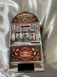Las Vegas Casino Slot Machine Coin Bank 777 Spinning Wheel Savings Jackpot