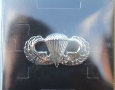 Authentic New US Army Basic Parachutist Badge w/ Two Combat Jumps Airborne Wings