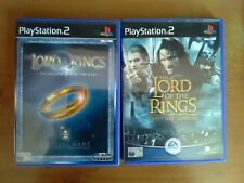 The Lord of the Rings: The Fellowship of the Ring and the two towers ps2 games