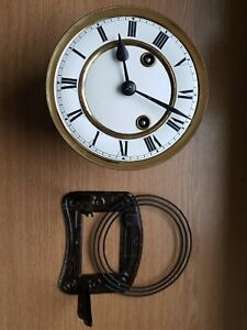 Vienna Clock Movement  Face  Dial Hands Gong Frame 145mm Dia Clockmakers Spares