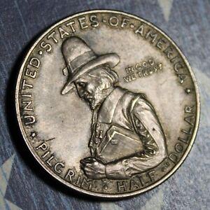 1920 PILGRIM SILVER COMMEMORATIVE HALF DOLLAR  FS 901 COLLECTOR COIN.